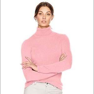 Lark & Ro bubblegum pink 100% cashmere sweater
